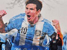 cuadro pintado de Messi - Buscar con Google