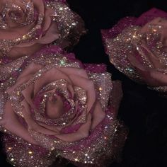 mauve roses with crystals - Sara-Shakeel-Crystal-Collage-Digital-Artist - subway station Source by lovemaegan.