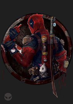Deadpool, Dmytro Rudenko on ArtStation at https://www.artstation.com/artwork/WG1Rv