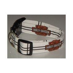 Harley Davidson Motor Cycles Checker X Large 1 Dog Collar