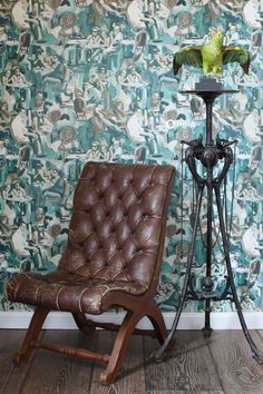 Striking, classic emerald green wallpaper with abstract design | collection Wunderkammer | Origin – luxury wallcoverings
