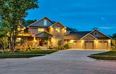 Stone exterior -  Homes by DePhillips