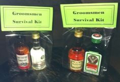 Groomsmen Survival Kit! LOL my fiancee would love this