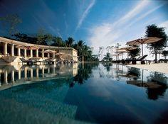 The swimming pool at Amanjiwo, the best luxury resort near Borobudur Audley Travel, Cool Swimming Pools, Borobudur, Inside Outside, Hotels And Resorts, Luxury Hotels, Wonderful Places, Amazing Places, Yogyakarta