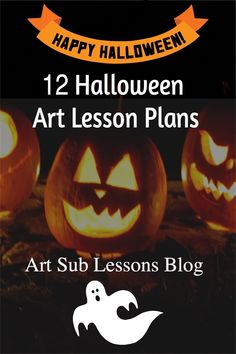 Are you looking for art lesson plans or sub plans for Halloween? Here are 12 ideas for you to check out. Chosen because they are easy, fun, and quality plans, you will be inspired by this assortment.