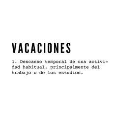 ✔ vacaciones