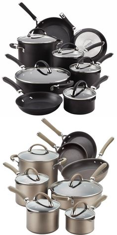 This striking Circulon® Premier Professional Hard Anodized Nonstick 13-Piece Cookware Set includes an array of professional quality pots and pans to create gourmet meals for family and friends.