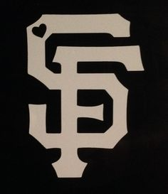 San Francisco Giants SF logo with Heart Vinyl by GetBlastedDesigns