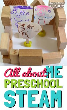 All About Me Math Activity for Preschoolers. Count, draw and build for a hands-on way to combine Math, Engineering and Art  activities.