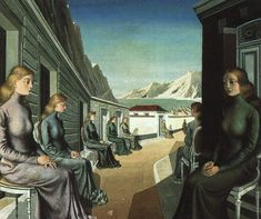 Paul Delvaux, The Village of the Mermaids, 1942 More about this Surrealist seaside fantasy on Studio 360