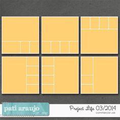 Project Life 03/2014 by Pati Araujo | CU/Commercial Use #digital #scrapbook design tools at CUDigitals.com #digitalscrapbooking