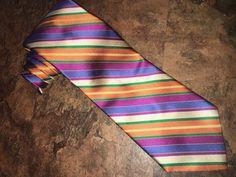 """Dion Signature Collection Italian 100% Silk Tie Multi-Color Loud & Proud 59"""" #DionSignature #Tie"""