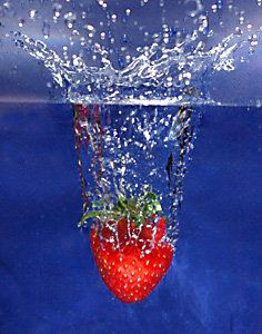 Raw Strawberry in Water - Today, March 22, 2012 is World Water Day.  Check out my Water Issues board @Sassafras on Pinterest!