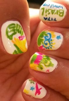World Cup Nails #soccernails #soccer #worldcupnails #nailart