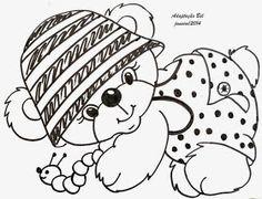 Pintura em Tecido Passo a Passo: Riscos de ursinhos para pintura em tecido