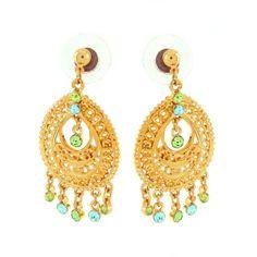 qvc Ltd JOAN RIVERS Look of Gold Drop Dangle Crystal Chandelier Earrings 545M #JoanRivers #DropDangle