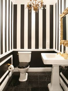 bathroom with black toilet seat - Google Search