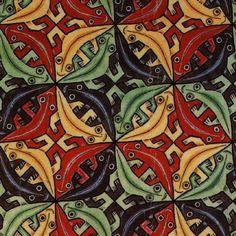 tessellations (sp?)  grade 5  M.C. Escher's work says it all