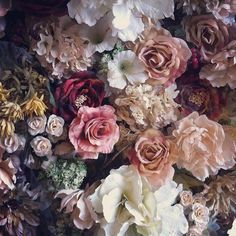 flowers and everything floral My Flower, Vintage Flowers, Beautiful Flowers, Flowers Nature, Autumn Flowers, Floral Flowers, Silk Flowers, Purple Flowers, Vintage Floral