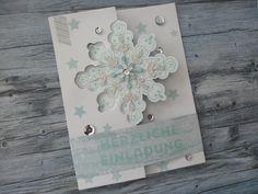 Winter Weihnachten Einladung Karte - Stampin Up Winterwerke http://dini.derschnipselgecko.com/category/meine-kreationen/
