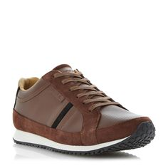 LACOSTE MENS MORTAIN - Leather Running Trainer - tan | Dune Shoes Online