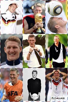Germany's Bastian Schweinsteiger Helluva player and great sportsmanship. He's one of the few that plays football the way it's meant to be played..with heart.