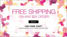 Free shipping on any $25 order www.youravon.com/cathyphillips   avonrep1965@hotmail.com