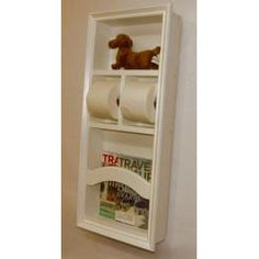 Recessed Wood In The Wall Magazine Rack Trash Can Toilet Paper Holder Tissue Kleenex Holds