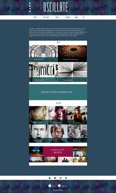 Week long Sound Art Festival. Created website and poster. www.nessalopez.com