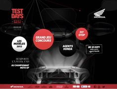 Test Days Honda website