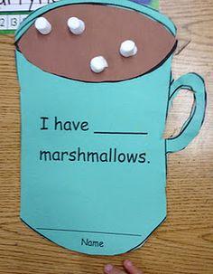 Apples and ABC's: Adventures in Kindergarten: Hot Cocoa Math Preschool Themes, Preschool Classroom, Kindergarten Math, Classroom Activities, Preschool Winter, Winter Activities, Kindergarten Christmas, Dinosaur Activities, Math Math