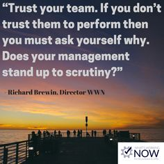 Be the best boss by trusting your team. You hired them because you saw talent an an opportunity to trust in them.