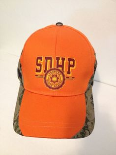 South Dakota Highway Patrol Strapback Trucker Hat Cap Camo Blaze Orange  SDHP  Cobra  Trucker 4bab1053739f