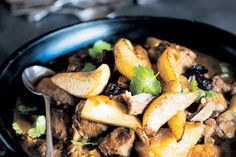 Lamb tagine -uses lamb shoulder, pears & raisins - this has a great, rich sauce that is slightly sweet. Does not need the pears & raisins on top at the end though, as this makes it too sweet