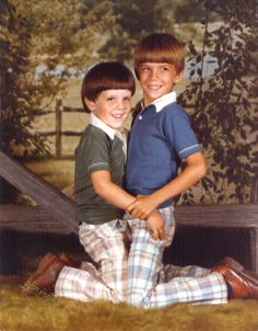 """""""This is a photo of me and my brother taken in 1979 when I was 4 and my brother is 7. it was taken at Olan Mills and there were other photos from this shoot, but none quite as magical this one. This photo is a running joke in our household and hopefully it will [...]"""