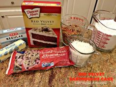 Red Velvet Earthquake Cake - Can't Stay Out of the Kitchen 9x13 Baking Dish, Glass Baking Dish, Cake Mix Recipes, Dessert Recipes, Cake Mixes, Easy Desserts, Dinner Recipes, Earthquake Cake Recipes, Bake My Cake