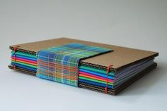 Open Spine with Fabric Tape Book by Elvira Fuentes