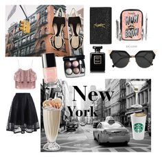 """""""Carrie's NYC style"""" by hellodielilly on Polyvore featuring Nordstrom, Benefit, ASOS, Yves Saint Laurent, Chanel and Fendi"""