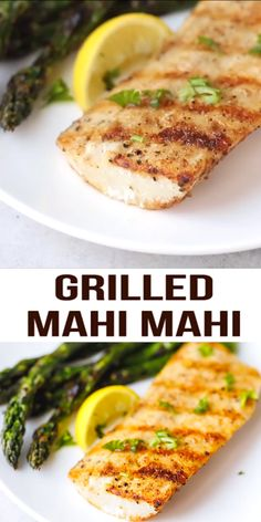 Easy Grilled Mahi Mahi Recipe – simple and delicious way to prepare white fish. Served with grilled asparagus or other vegetables of your choice. Seafood Appetizers Seafood Appetizers Appetizers Appetizers for a crowd Appetizers parties Grilled Fish Recipes, Healthy Grilling Recipes, Grilled Seafood, Seafood Appetizers, Seafood Dishes, Salmon Recipes, Seafood Recipes, Grilled Asparagus, Cooking Recipes