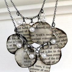 Book Page Necklace from Mandipidy