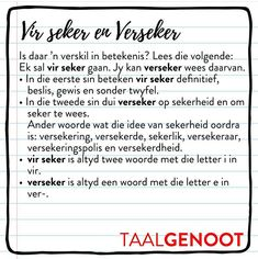 Education Quotes, Kids Education, Afrikaans Language, Afrikaans Quotes, Smarty Pants, Home Schooling, Wedding Humor, Success Quotes, Spelling