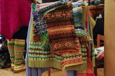 Swatches from the KNITSONIK Stranded Colourwork Sourcebook
