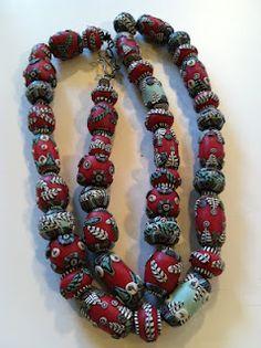 Polymer clay beads  Leslie Aja