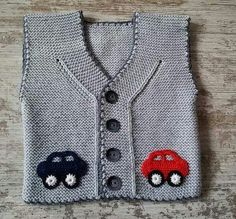 Baby Vest Decoration Techniques – Knit Vest Decorations for Babies – TC Arzu Parlak – Join the world of pin Crochet Baby Dress Pattern, Baby Dress Patterns, Baby Knitting Patterns, Knit Crochet, Knitting For Kids, Crochet For Kids, Free Knitting, Cardigan Bebe, Baby Cardigan