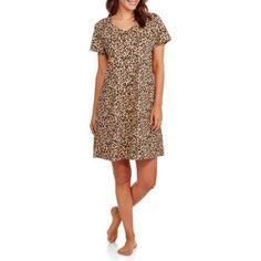 Secret Treasures Women's Pajama Short Sleeve Sleep Shirt, Size: L-XL, Multicolor