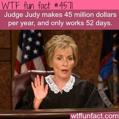 How much money does Judge Judy make? - WTF fun facts http://ibeebz.com