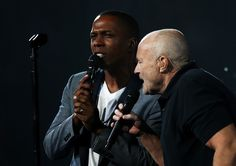 Phil Collins Photos Photos - Leslie Odom Jr. performs with Phil Collins on…