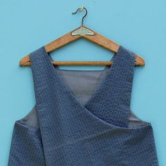 Grey Japanese style crossover back reversible apron by ZUTusine