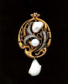 Колонна, Эдуард Золото, жемчуг, бриллианты, розовые бриллианты, полудрагоценные кани Галерея Тадема