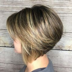 The Full Stack: 50 Hottest Stacked Haircuts Medium Feathered Stacked Bob Haircut Medium Stacked Haircuts, Stacked Bob Hairstyles, Short Layered Haircuts, Medium Hair Cuts, Short Hair Cuts, Short Hair Styles, Pixie Haircuts, Medium Hairstyles, Braided Hairstyles
